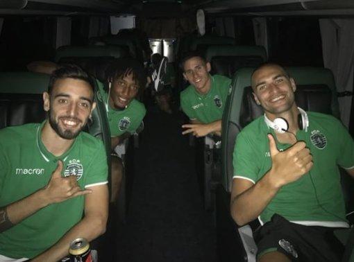 O sorriso da vitória! De regresso a Lisboa. 😃 💪 #DiaDeSporting #FeitodeSporting