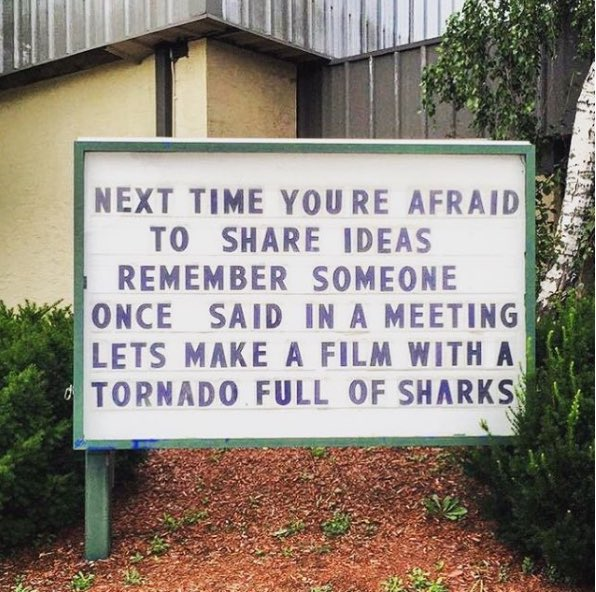 RT @coachfisher_rp: This is posted in my classroom to inspire my students #Sharknado5 https://t.co/879hBDprN4