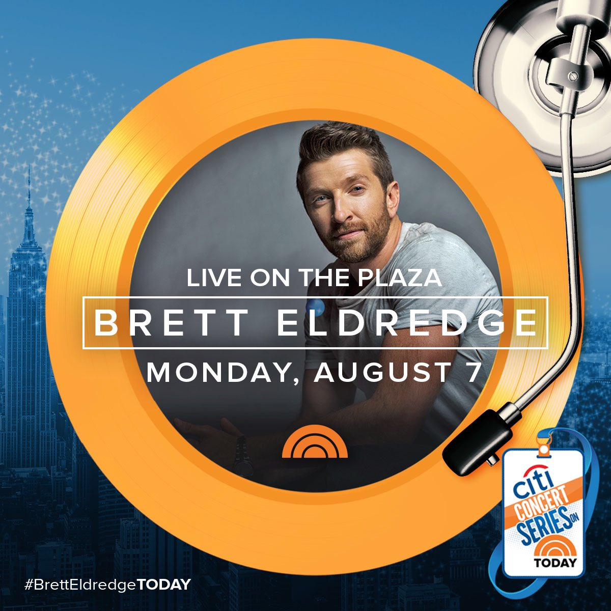 Brett Eldredge On Twitter So Pumped To Be Part Of The Citi Concert