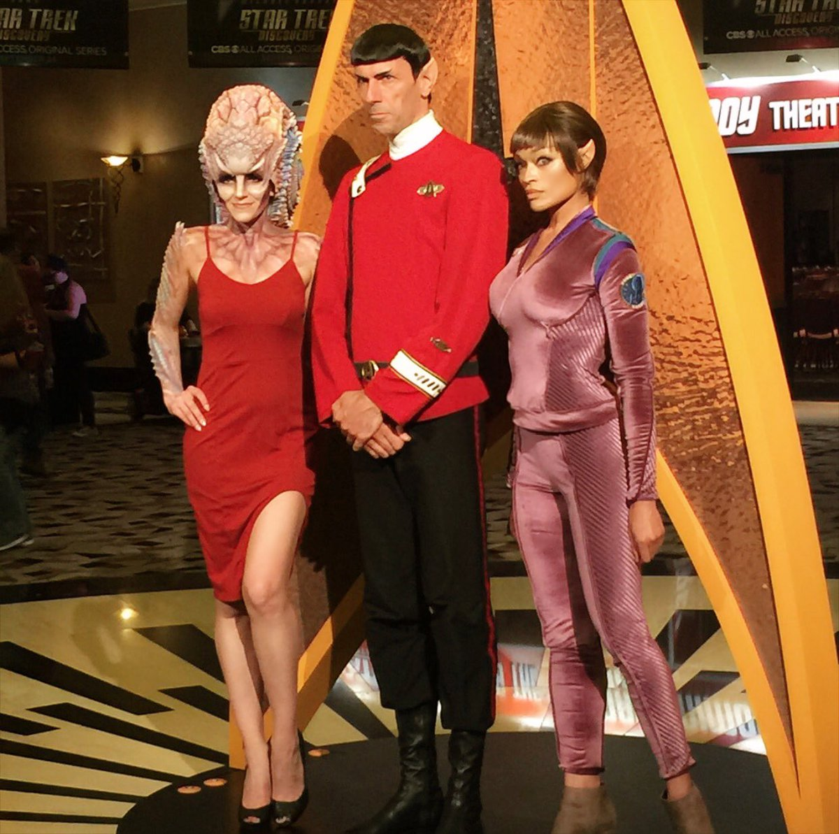Natalia, Spock and T'Pol.  Generations of @StarTrek