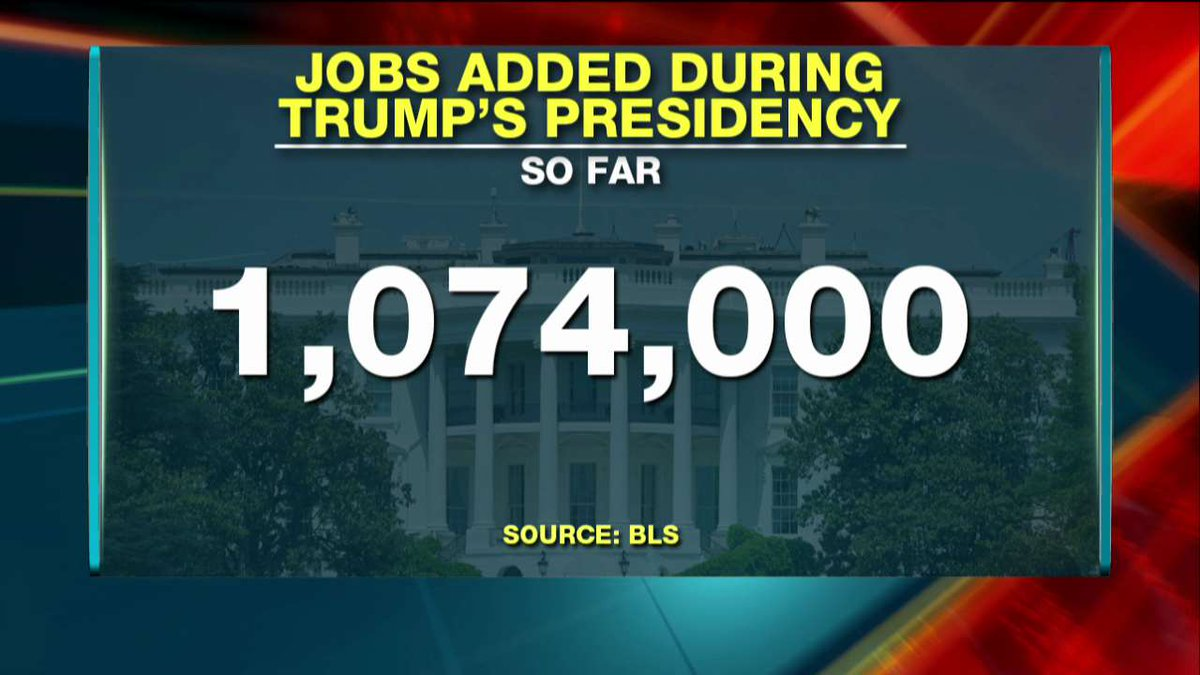 Jobs added during @POTUS' time in office.