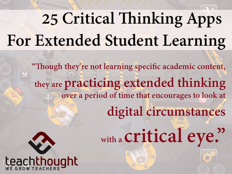 will critical thinking help me as a student Critical thinking skills will help you in any profession or any circumstance of life, from science to art to business to teaching with critical thinking, you become a clearer thinker and problem solver.