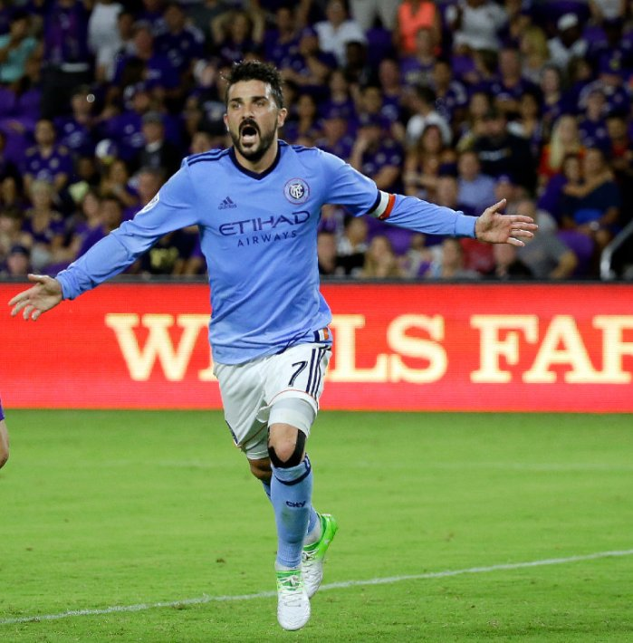 David Villa: 1st career MLS hat trick (1st hat trick since 2013 Confederations Cup)  2nd MLS hat trick in @NYCFC history (Frank Lampard)
