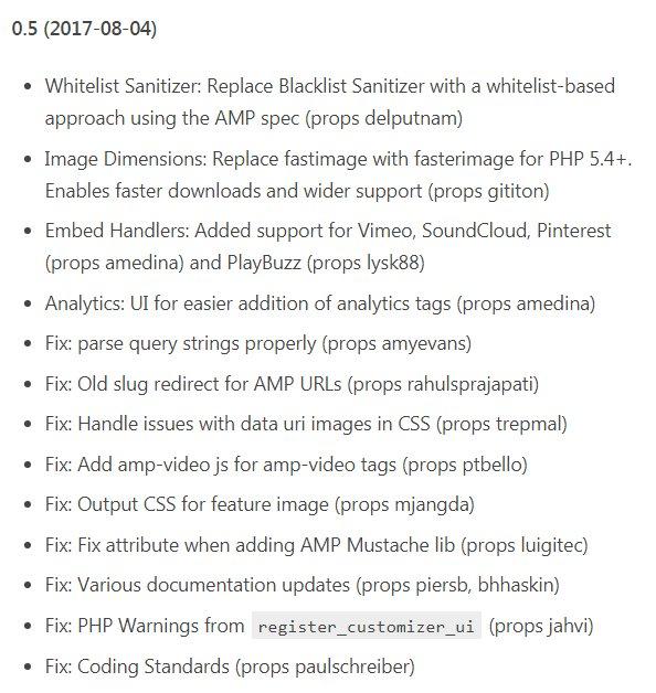 FYI, the official AMP plugin for WordPress has been updated to version 0.5 https://t.co/odS6kEPmwB https://t.co/DijKCLVscs