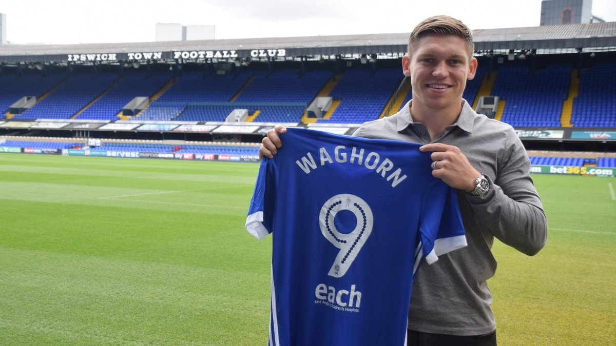 Introducing our new number nine!   Welcome to Town, Martyn Waghorn! #itfc ✍