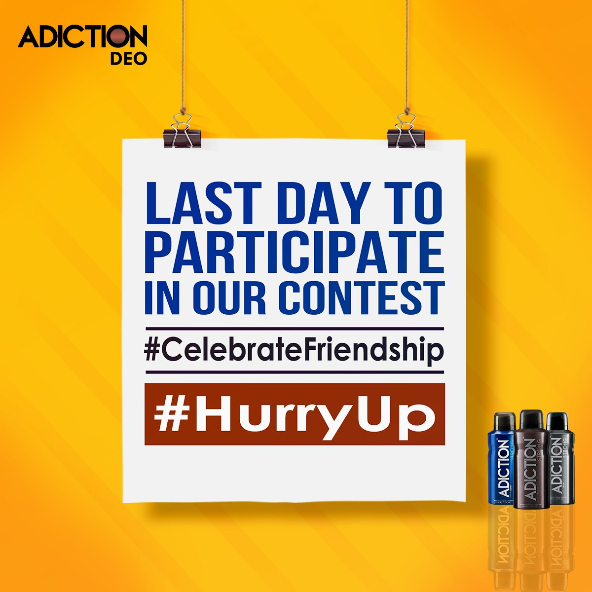 Hurry Up! Contest closing soon. #Adiction #Contest  #CelebrateFriendship https://t.co/TvJbIQ8HZc