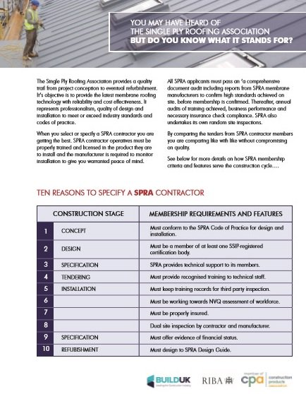10 REASONS TO SPECIFY A #SPRA CONTRACTOR: Reason 2  - DESIGN: Must be a member of at least one...download here  http://www. spra.co.uk/technical/down loads/ &nbsp; … <br>http://pic.twitter.com/iKOO3D5L1x