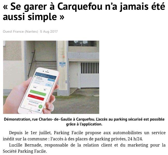 .@ParkingFacile gagne du terrain à #Carquefou en s'associant à #Habitat44 via @OuestFrance > https://t.co/4ogUeN39qv