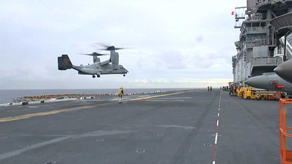 #BREAKING: Crashed USMC MV-22 Osprey found off the central Qld coast. Aust's HMAS Melville found it shortly after starting search @abcnews