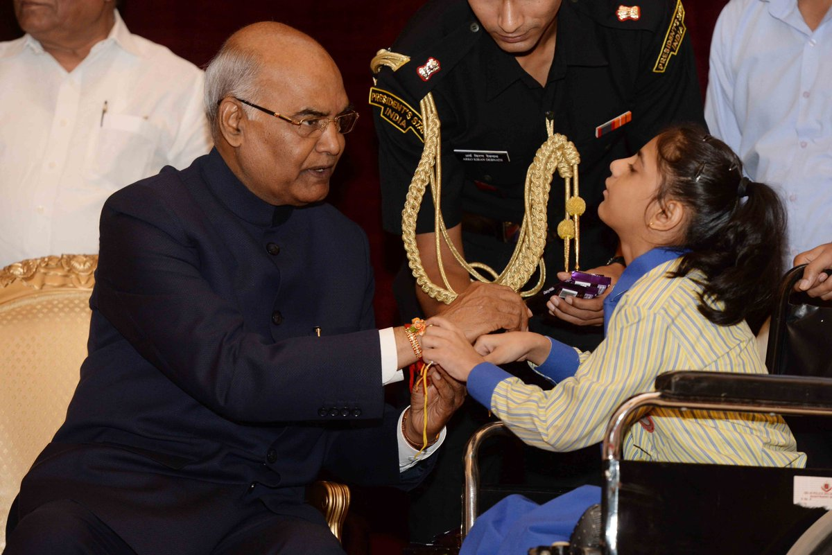 President of india on twitter presidentkovind received raksha president of india on twitter presidentkovind received raksha bandhan greetings from studentschildren from various schools and organizations at kristyandbryce Choice Image