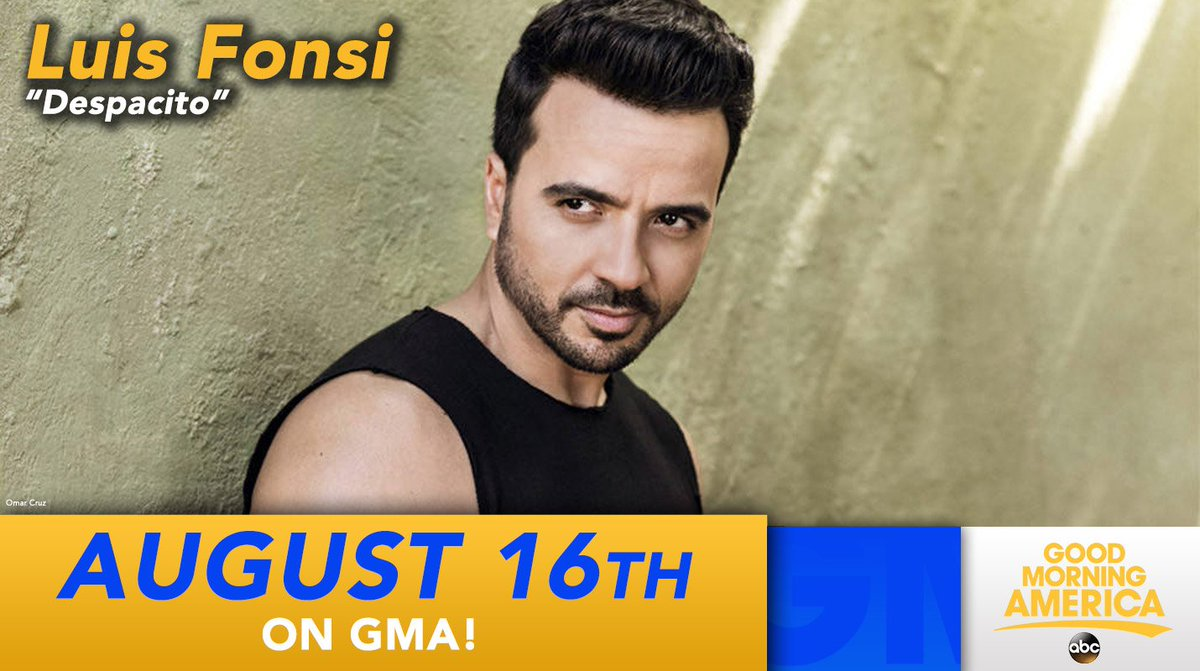 NEXT WEEK: @LuisFonsi will perform 'Despacito' LIVE on @GMA!