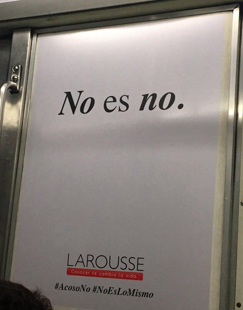 Espectacular la campaña de Larousse (¡los diccionarios!) en Mexico, contra el acoso #AcosoNo #NoEsLoMismo https://t.co/9JwYqnw7TV