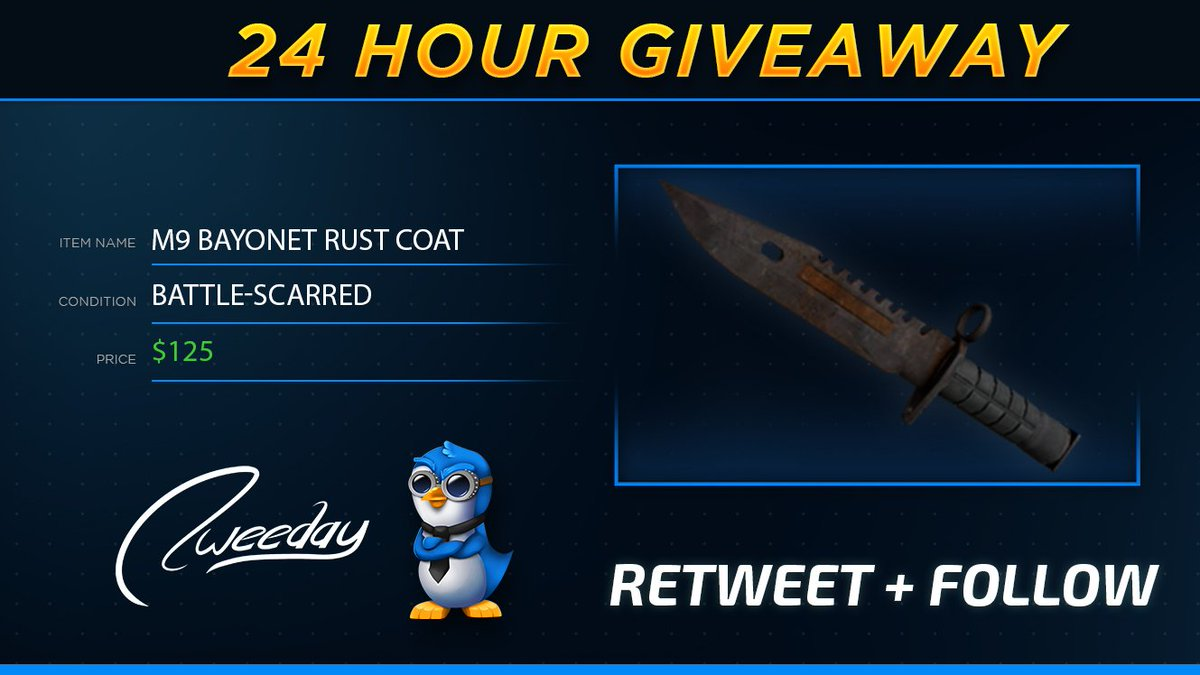 mrtweeday on twitter new 24 hour giveaway 125 m9 bayonet
