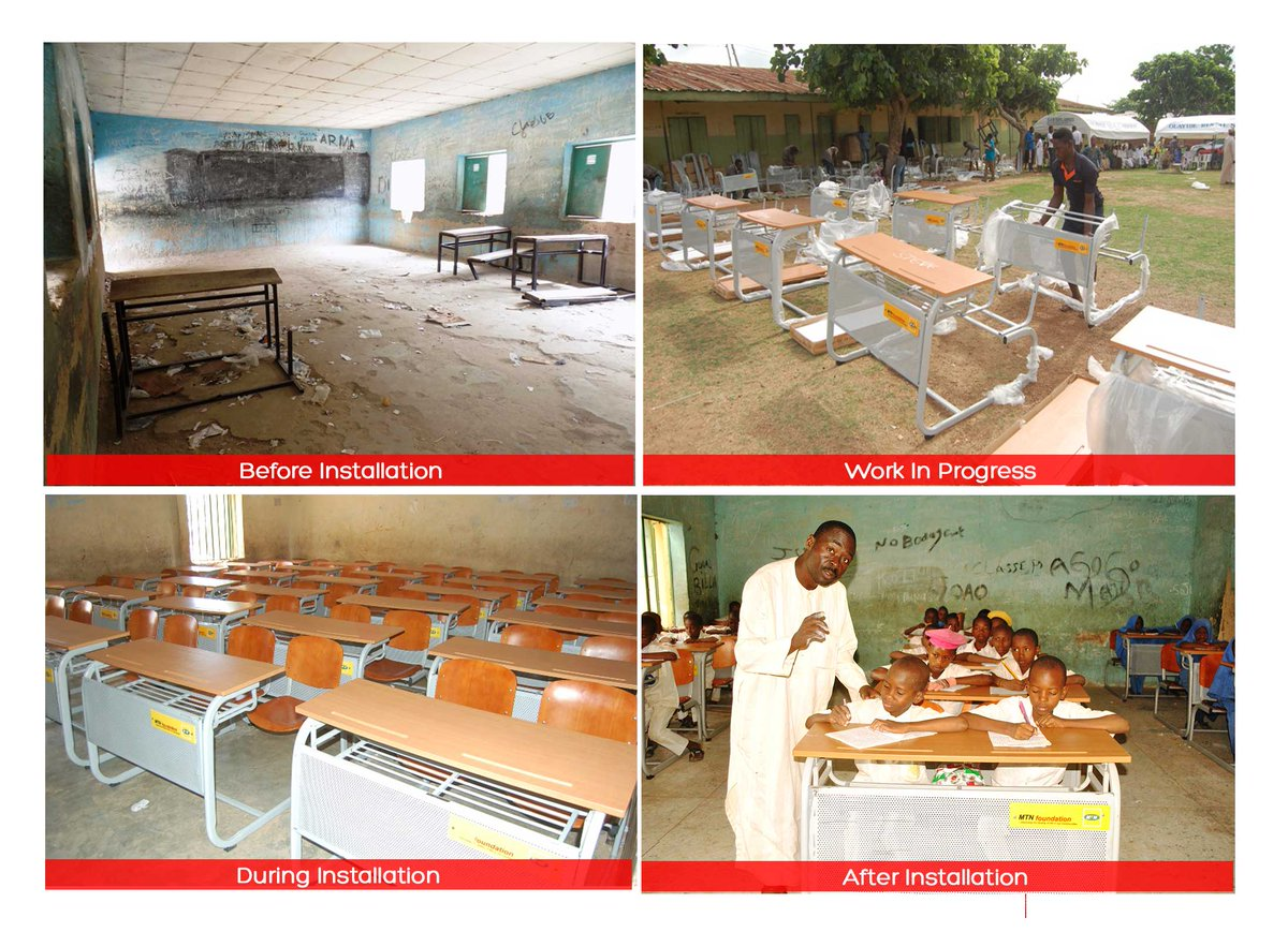 #WhatCanWeDoTogether has supplied 14,200 sets of furniture to schools across Nigeria to improve the quality of lives in our communities. <br>http://pic.twitter.com/HZCbQerElK