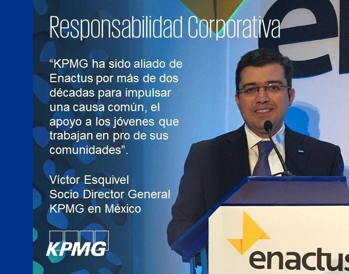 @EnactusMexico &amp; @KPMGMEXICO are committed since 20 years ago to create a better world to us all.  #Enactus #KPMG #WeAllWin<br>http://pic.twitter.com/mBZaqk72SU