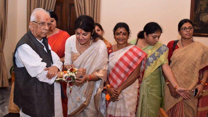 Celebration of Raksha Bandhan. Happy Raksha bandhan to all. #RakhiUtsav https://t.co/V16AbENIu5