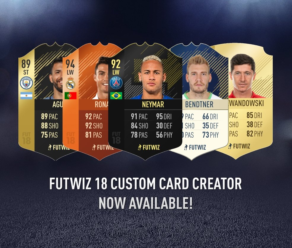 futwiz on twitter our card creator has been updated for fut18