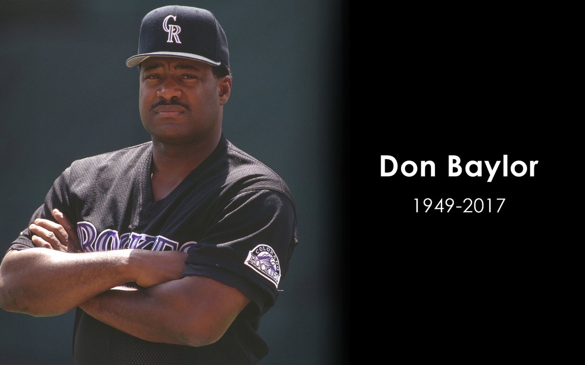 We are deeply saddened by the passing of original Colorado Rockies Manager Don Baylor. https://t.co/hYo61JP1sF