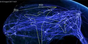 How awesome is this! From the #avgeeks @BoeingAirplanes. Mapped by @NATS