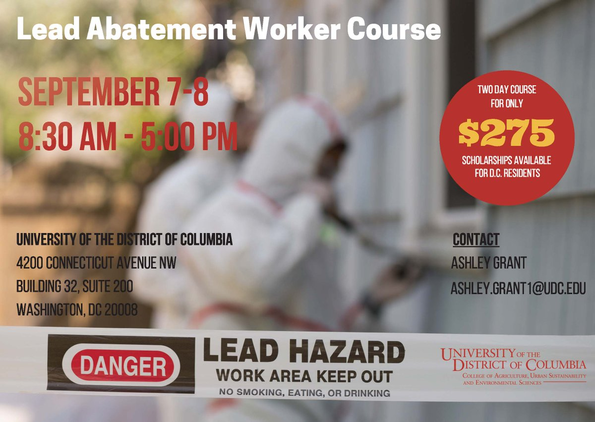 Udccauses On Twitter Earn Your Lead Abatement Worker Certificate