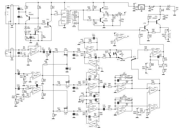 Металлоискатель схемы pdf