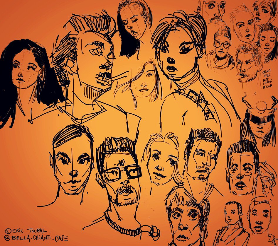 Quick sketches (env 2min each) #doodle #faces #portraits #sketch #erictoubal #bellachianti #drawing #facedrawing #bd #dessin #Sketching<br>http://pic.twitter.com/IHMsryOAsx