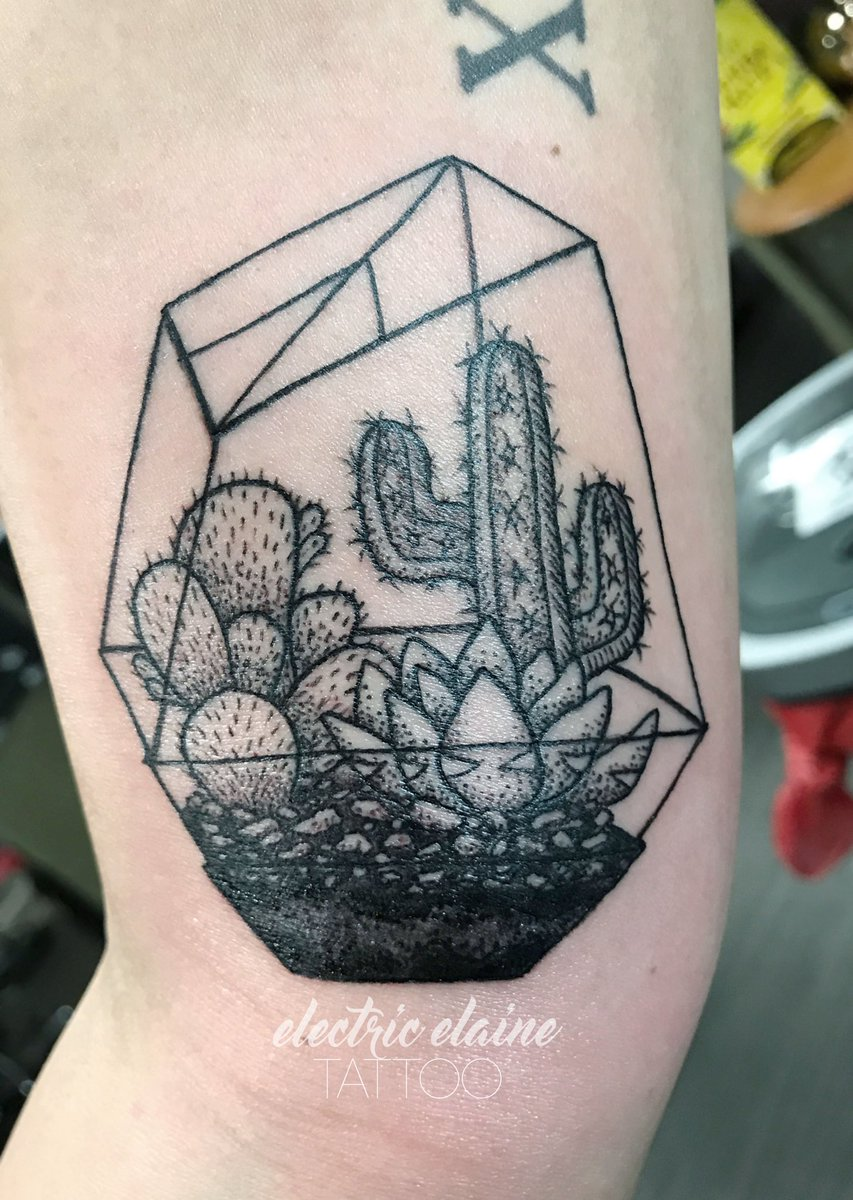 Electric Elaine On Twitter New Ink On My Good Friend Julie Terrarium Cactustattoo Terrariumtattoo Saguaro Succulenttattoo Arizonatattoo