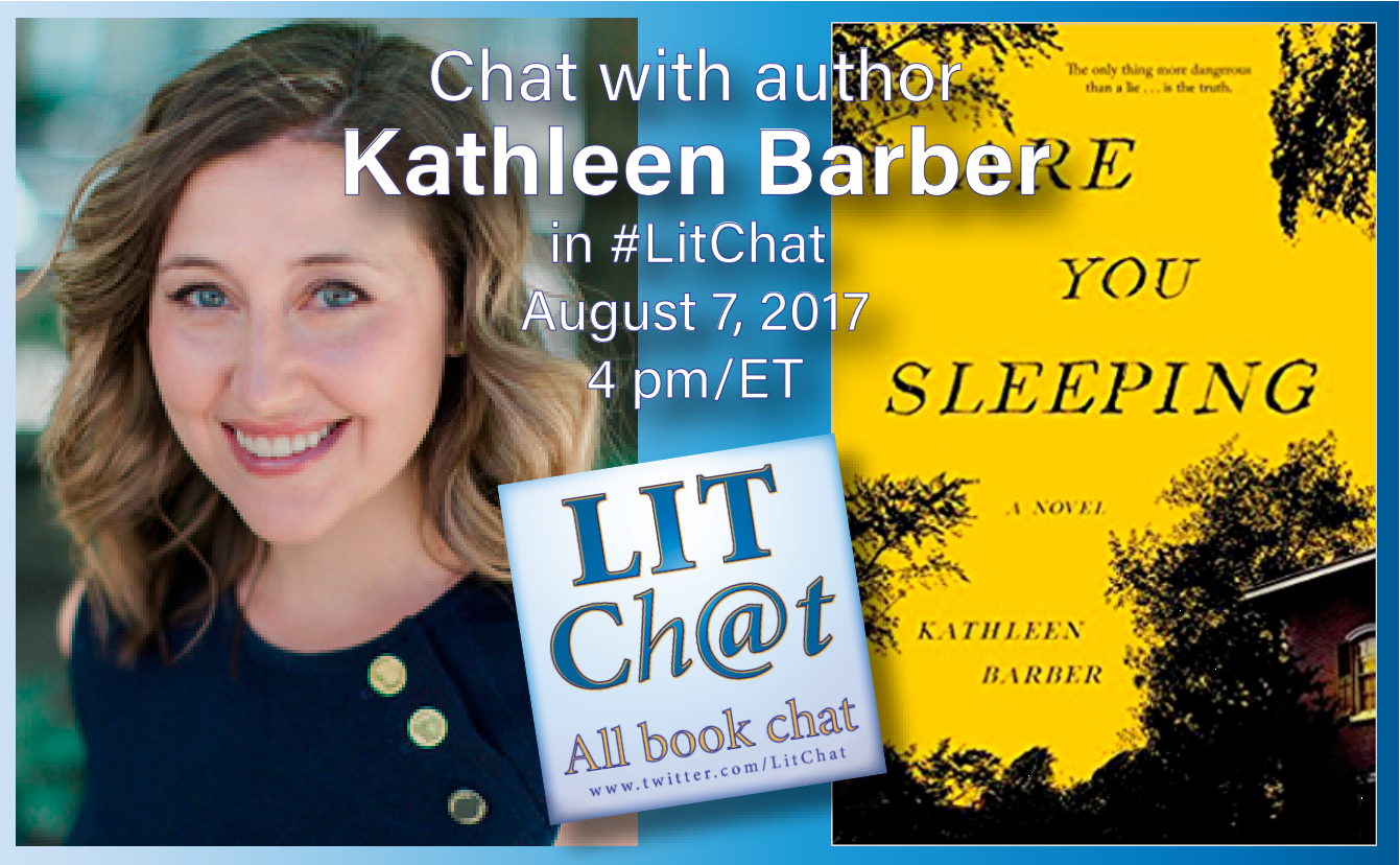 Welcome to #LitChat! Join us today with Kathleen Barber. https://t.co/wc7UkPeNHw