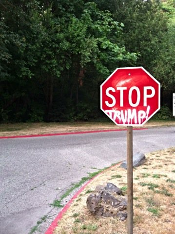 #sign of the times - a photo I took recently that felt satisfying to see. We are done w/ #45 #badRealityShow<br>http://pic.twitter.com/HgiHbTT5yN