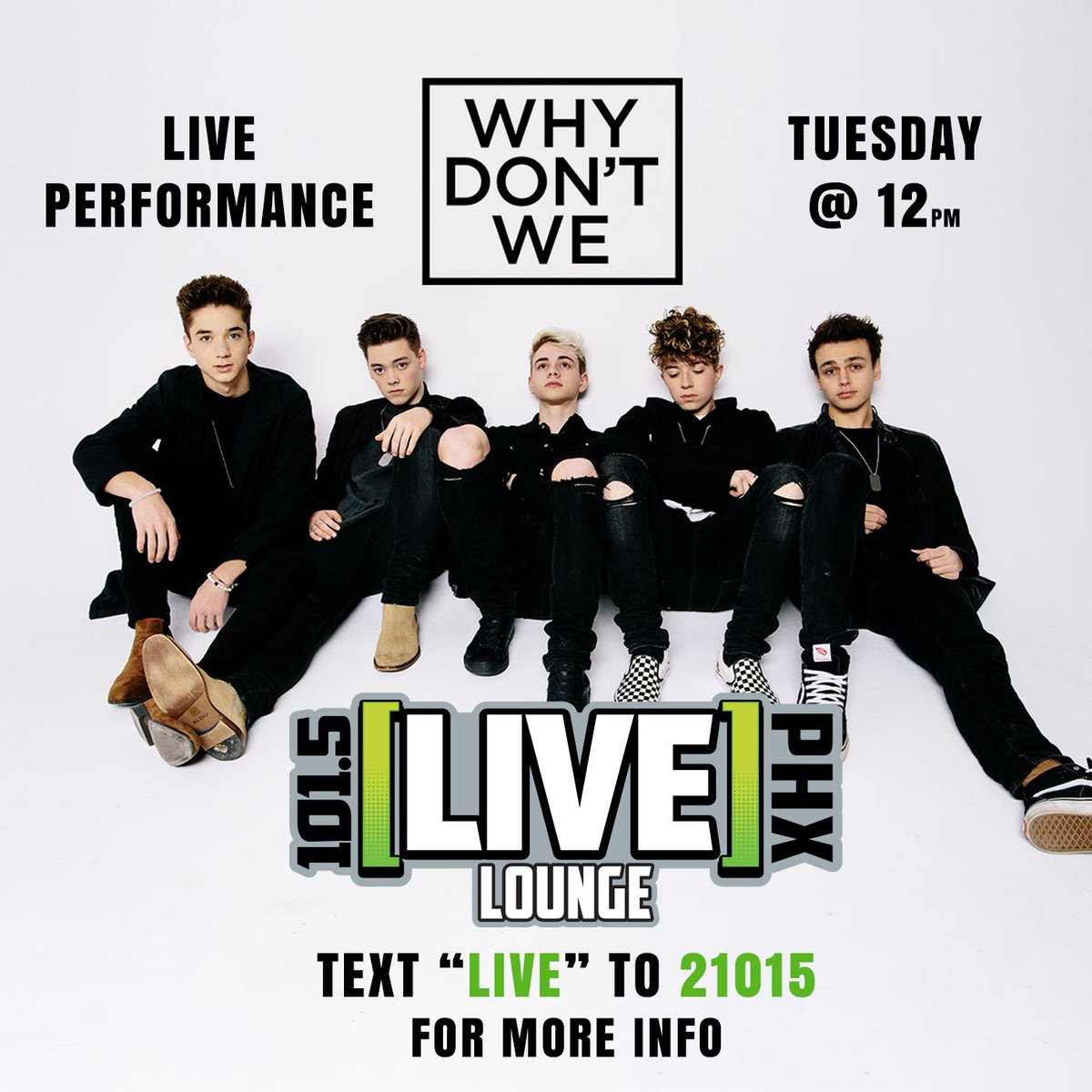 We got @whydontwemusic in studio tomorrow for a LIVE performance! Want to check it out? https://t.co/z37YzdKmr5