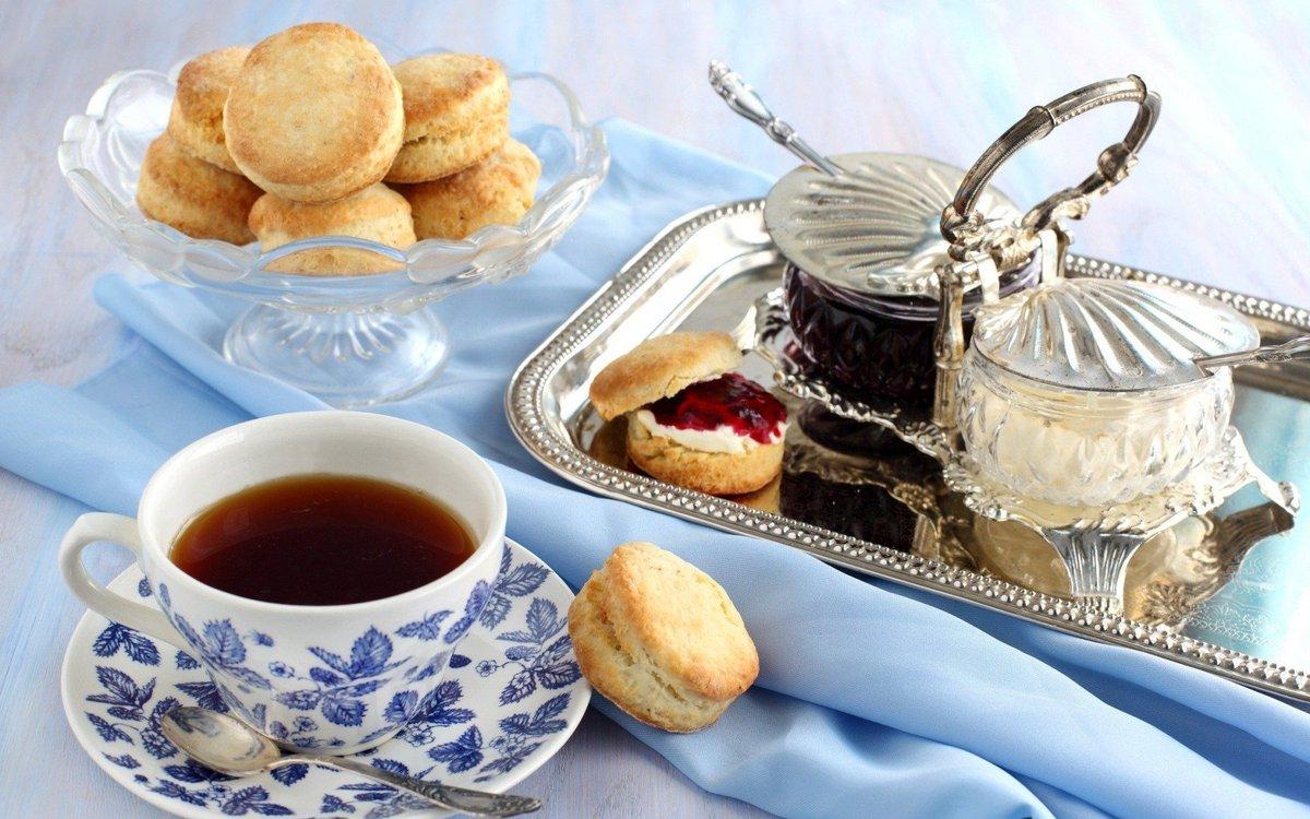 Открытка с добрым утром чай с печеньем, задание картинках