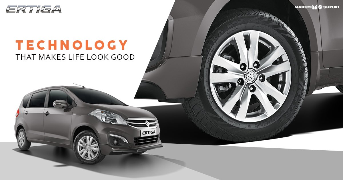 Enjoy moments of togetherness in style. Alloy Wheels of Maruti Suzuki Ertiga lend a sporty look & feel to every drive. #TogetherWithErtiga https://t.co/yL7P84OFOl