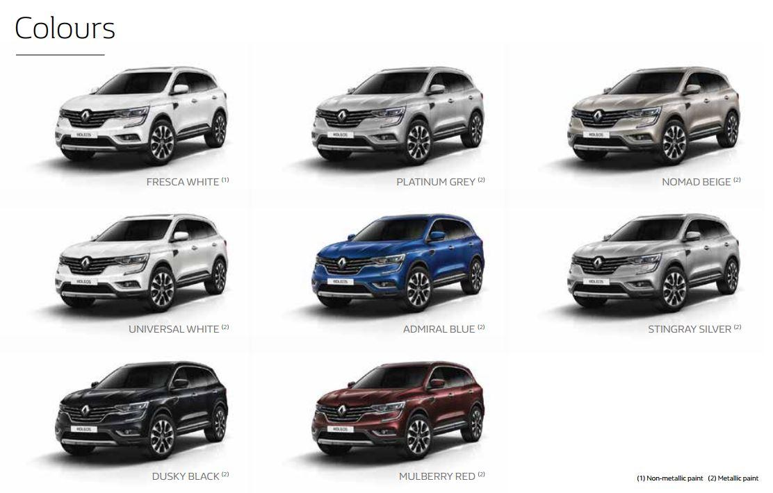 Lookers Renault On Twitter All New Koleos Which Color Would Yo Go For We Love The Blue Renault