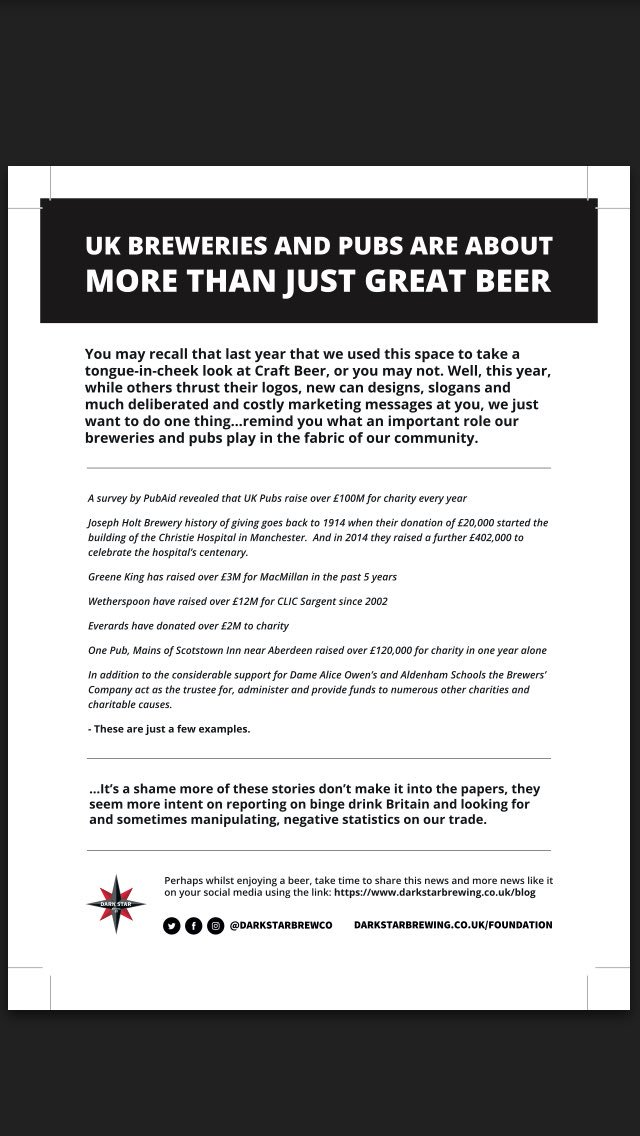 Our advert in today's Great British Beer Festival programme in case you aren't going #gbbf https://t.co/Apq4ZAE44S