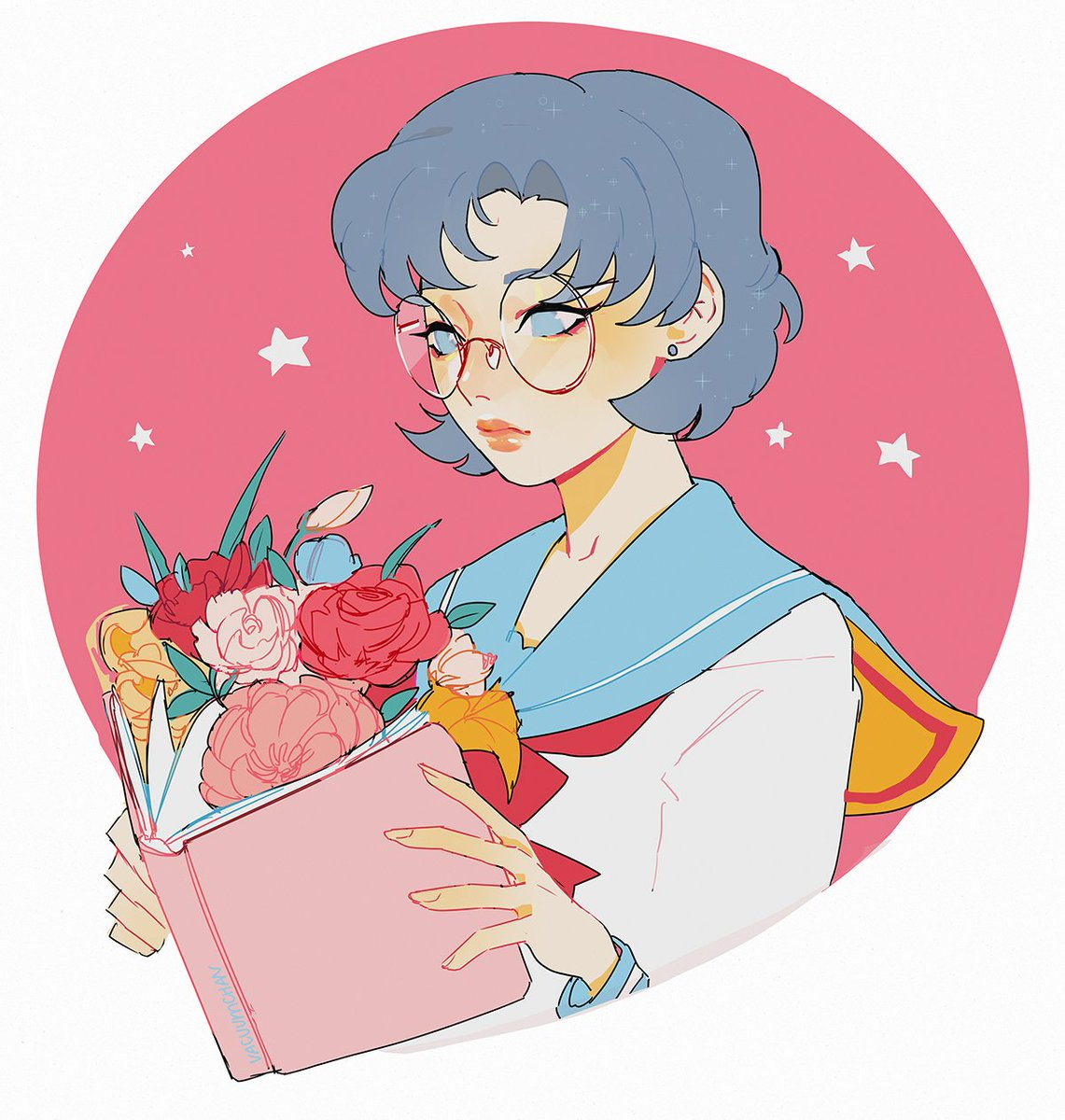 RT @vacuum_chan: hello! I'm vacuum/Sofie, book illustration student I love drawing girls with flowers 💦#VisibleWomen https://t.co/3yf4C0TPQF