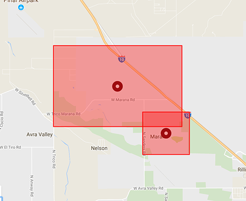 Town Of Marana On Twitter A Car Has Damaged A Power Pole Which