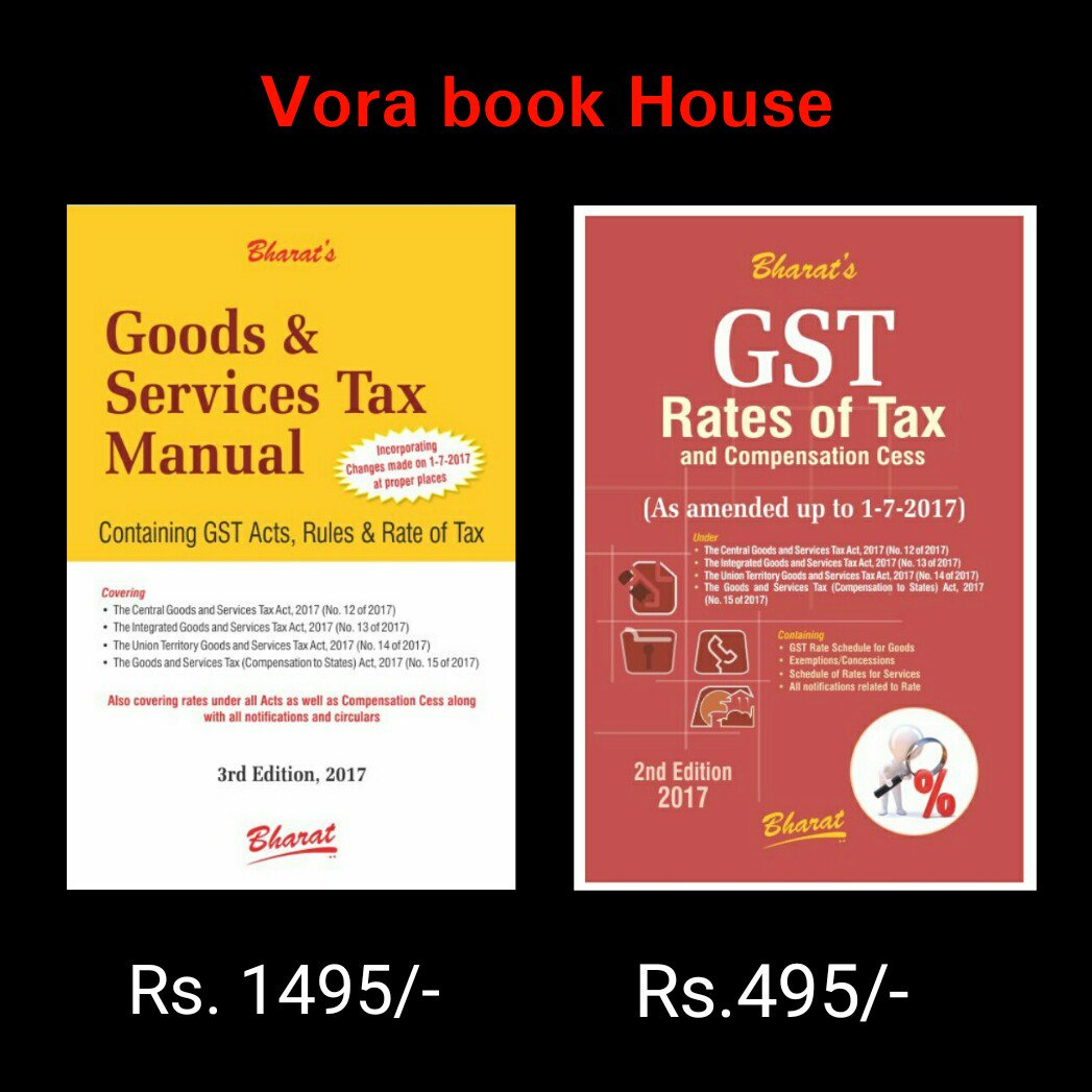 Title - Goods and services tax Manual &amp; gst Rates of Tax  Price -Rs.1495/- &amp; 495/- #vorabookhouse #books #law #gst #bookstore #manual #rates<br>http://pic.twitter.com/dnNV5NRLbY