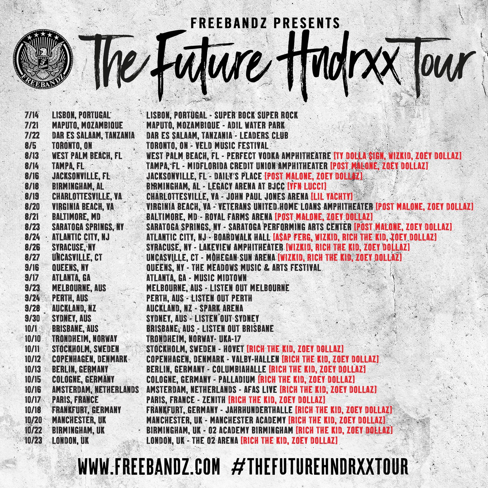 Grab Tix Now! #THEFUTUREHNDRXXTOUR   https://t.co/RJmTJuMev8 https://t.co/4ld6Z0U1dl