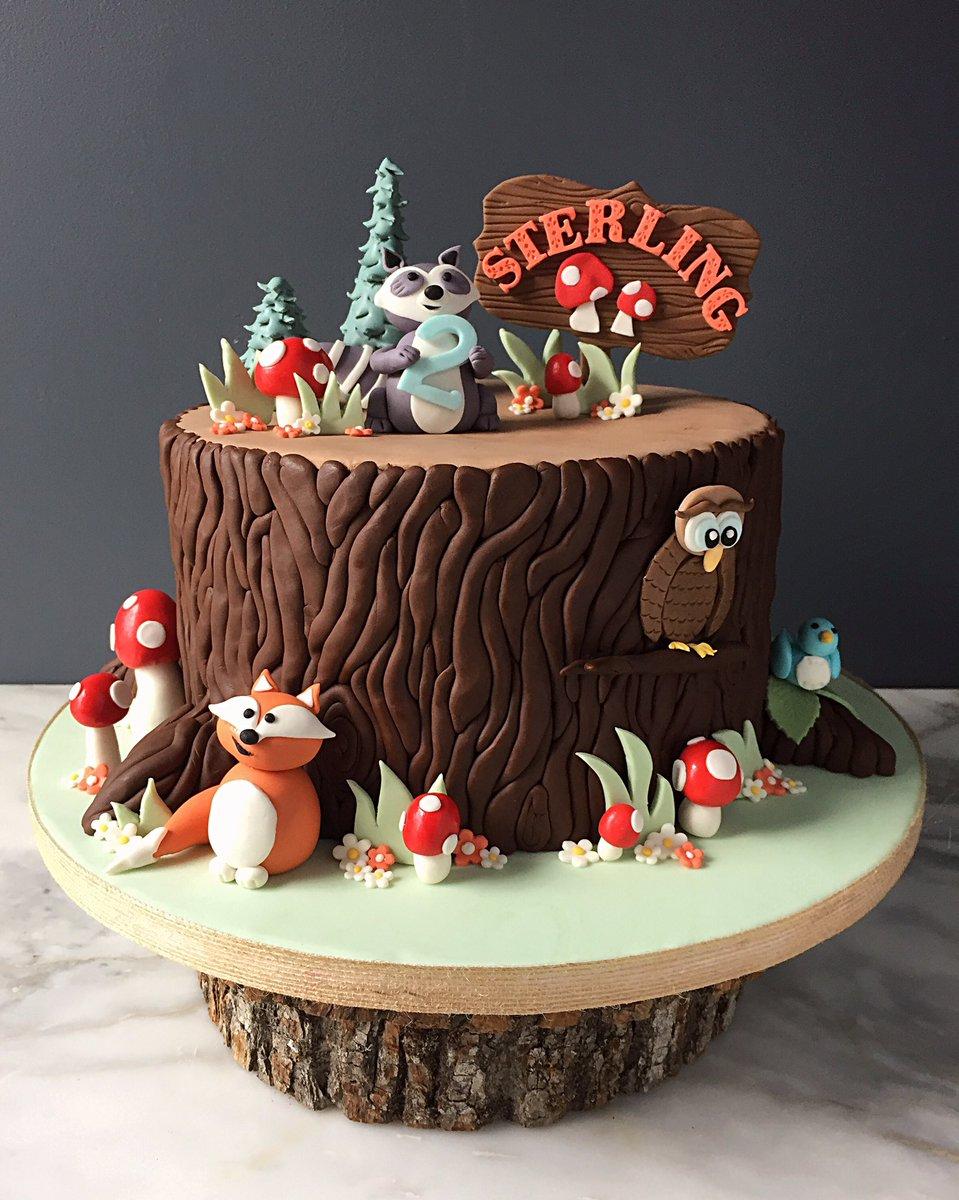 Enjoyable Pip N Bits On Twitter Woodland Birthday Cake Birthdaycake Funny Birthday Cards Online Aboleapandamsfinfo