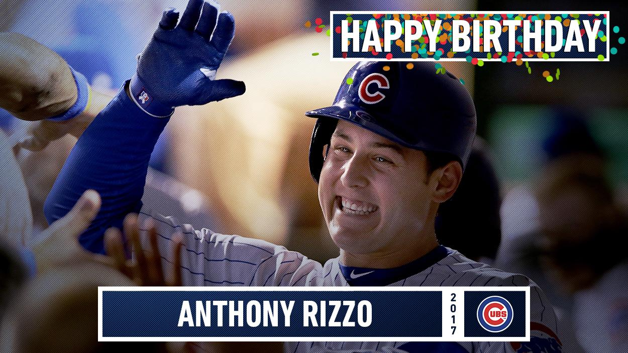 Happy birthday to the longest-tenured Cub, @ARizzo44! #GrandpaRizz https://t.co/rH8NWlWncN