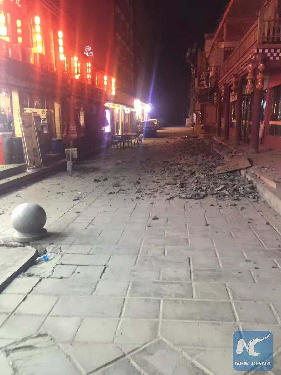 представителей звездного землетрясение в китае 9 августа картечью