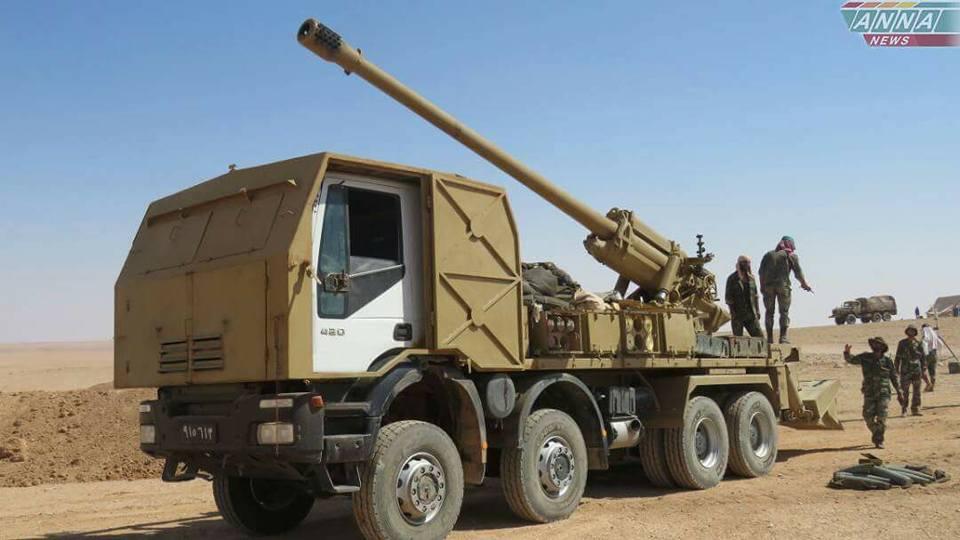 مدفع M-46 عيار 130 ملم الذاتي الحركه المدولب المطور من قبل الجيش السوري  - صفحة 2 DGtz4NiWsAAwJ6G