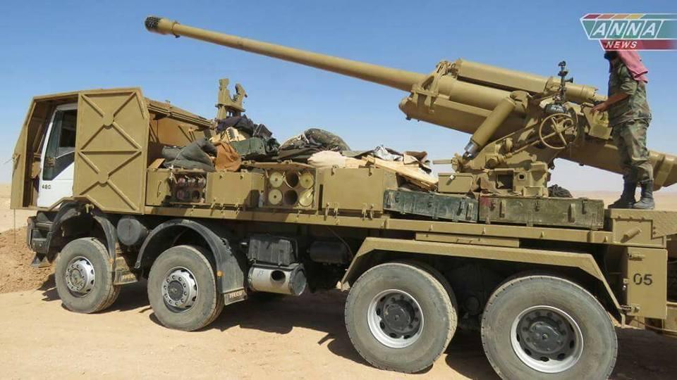 مدفع M-46 عيار 130 ملم الذاتي الحركه المدولب المطور من قبل الجيش السوري  - صفحة 2 DGtz7Z9XoAAFF1f