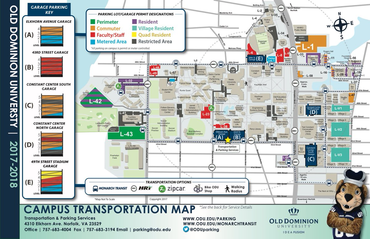 Old Dominion Campus Map.Odu Tps On Twitter Have You Seen Our New Campus Transportation Map