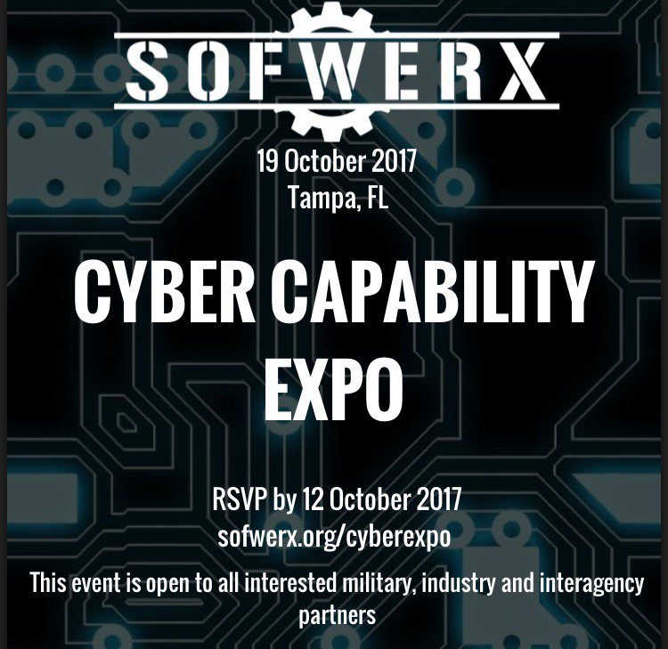 Sign up for SOFWERX #cyber capability expo by Oct 12!