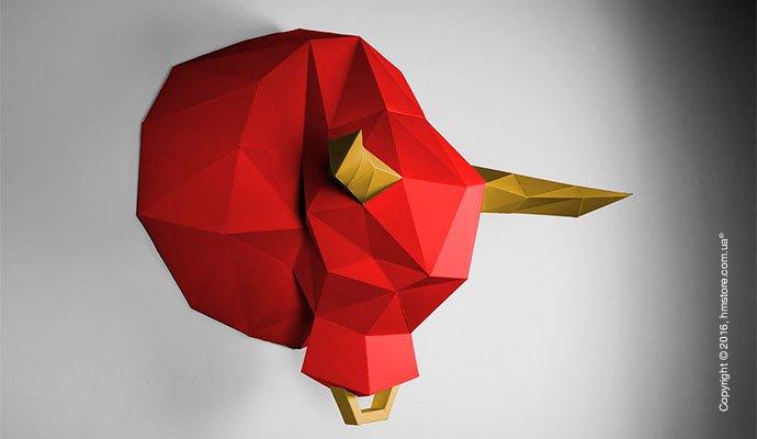 Оригами из бумаги павлина схема