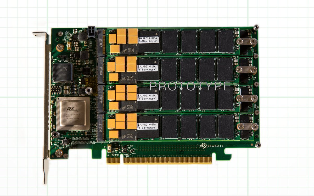 The world's highest capacity and performance on an SSD. 64TB, 13GB/s throughput. #FlashMem https://t.co/yjnecAxE8M