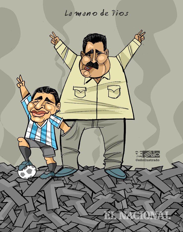 Image result for maradona y maduro caricaturas