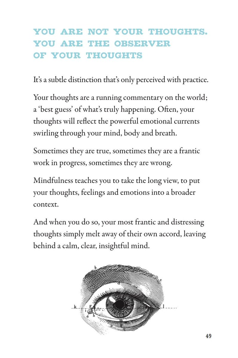 You are not your thoughts. You are the observer of your thoughts. #ArtOfBreathing #mindfulness https://t.co/9BTXym0ain