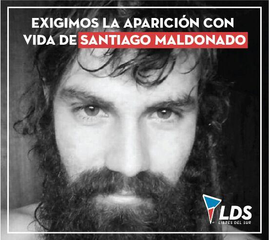 Exigimos la aparición con vida de Santiago Maldonado https://t.co/tslqCT0oBO